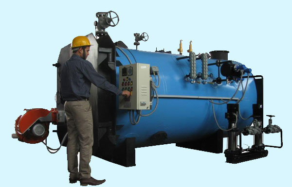 Oil-Gas Fired, 3 Pass, Shell Type, Flue Tube Steam Boilers